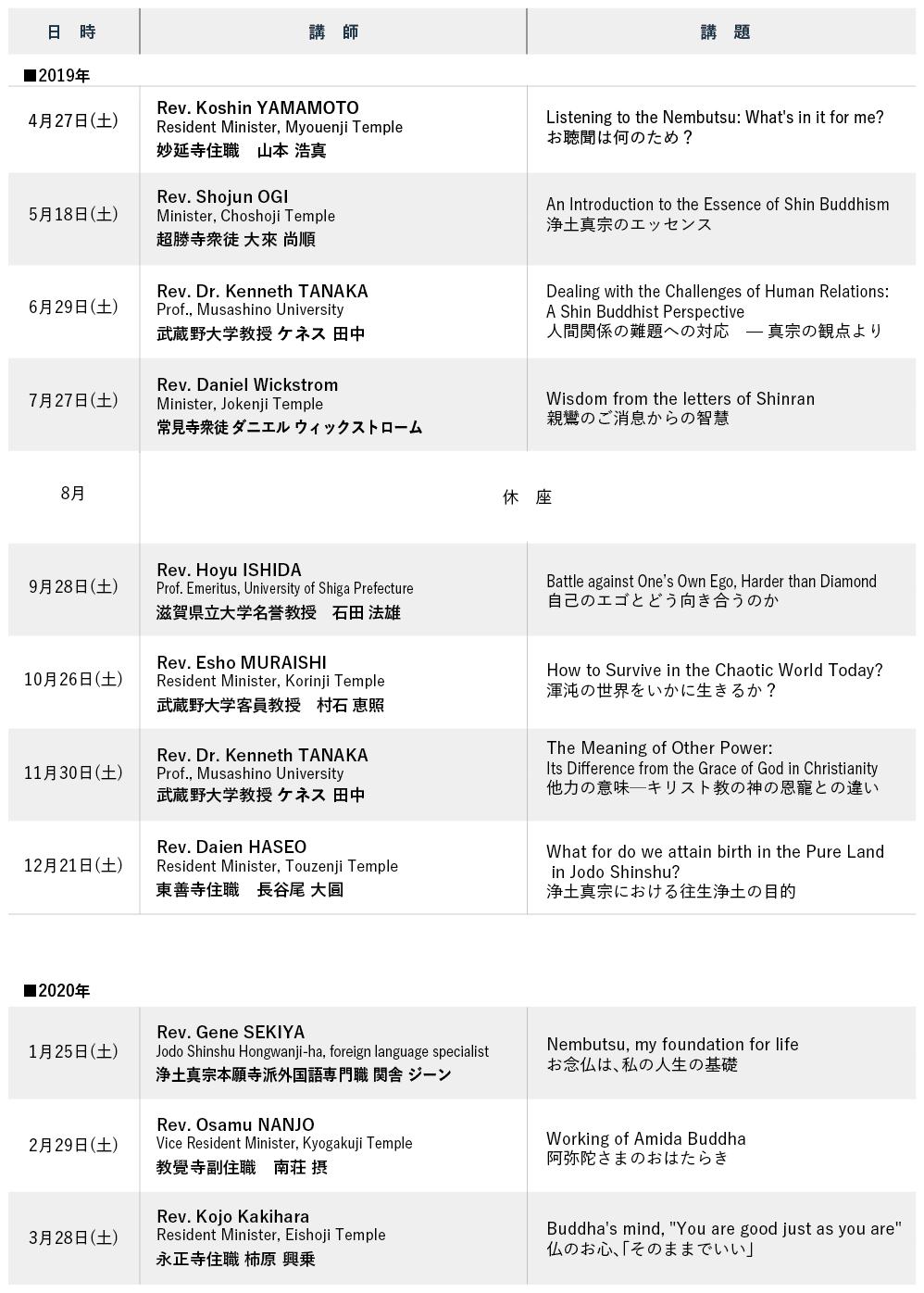 英語法座 スケジュール
